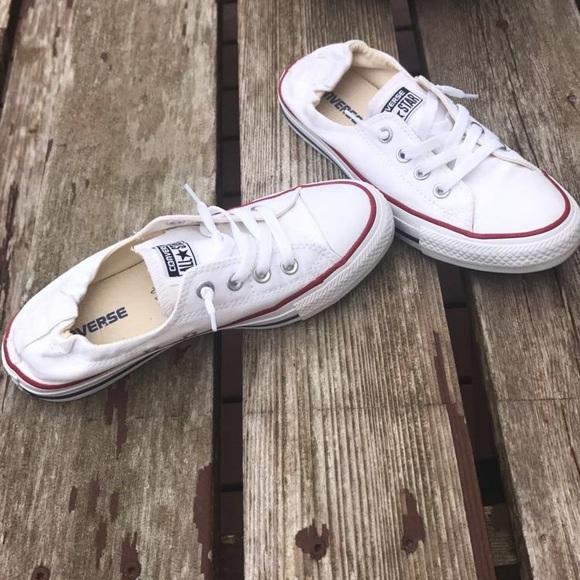 Converse Shoes - White converse!! Worn only a couple times 8a3e98603